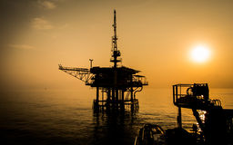 Oil platform. On the sea Stock Images
