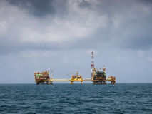 Oil platform at sea Royalty Free Stock Photography