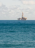 Oil platform in sea Royalty Free Stock Images