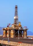 Oil Platform in a Shipyard Stock Image