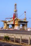 Oil Platform in a Shipyard Stock Images