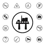 Oil platform sign icon. Detailed set of Warning signs icons. Premium quality graphic design sign. One of the collection icons for. Websites, web design, mobile vector illustration