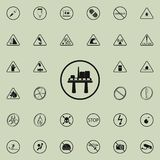 oil platform sign icon. Warning signs icons universal set for web and mobile royalty free illustration