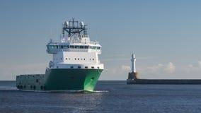 Oil Platform Supply Ship Stock Images