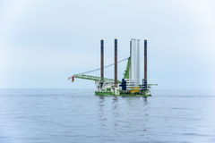 Oil platform towed Royalty Free Stock Photo