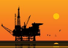 Oil platform vector Royalty Free Stock Photography