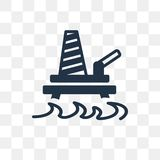 Oil platform vector icon isolated on transparent background, Oil vector illustration