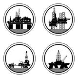 Oil platforms Royalty Free Stock Photography