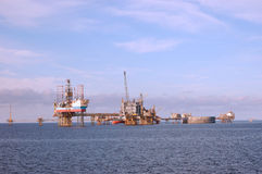 Oil Platforms In North Sea Stock Photography
