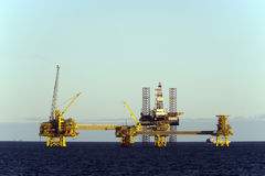 Oil platforms in North Sea Stock Image