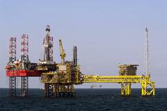Oil platforms in North Sea Royalty Free Stock Image