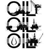 Oil platforms Stock Image