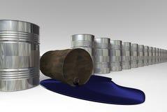 Oil pollution. Risk of crude oil pollution, conceptual image, 3D render image stock illustration