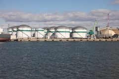 Oil Port Royalty Free Stock Photography