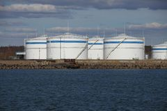 Oil Port Royalty Free Stock Photos