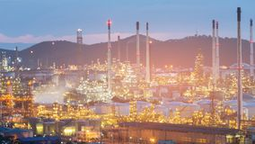 Oil power plant refinery industry Stock Images