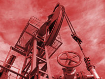 Oil power red Royalty Free Stock Photography