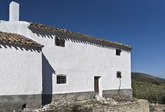 Oil press house in Spain Stock Photo