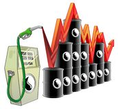 Oil price Royalty Free Stock Photo