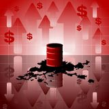 Oil price background Royalty Free Stock Photography
