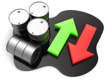 Oil price Stock Photo