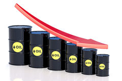 Oil price falling concept Stock Photography