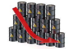 Oil price falling concept Royalty Free Stock Images