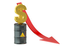 Oil price falling concept Royalty Free Stock Photo