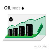 Oil price grow graph illustration Stock Photo