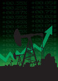 Oil price growth illustration Stock Image