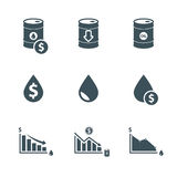 Oil price icon set Stock Images