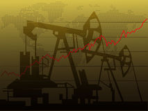 Oil price increase. Vector of Oil price increase Royalty Free Stock Photo