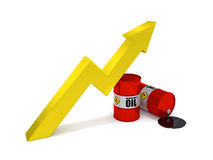 Oil price increase Royalty Free Stock Image