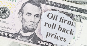 Oil price roll back Stock Photography