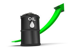 Oil Price Up Trend Royalty Free Stock Photography