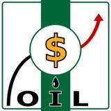 Oil price. Vector illustration royalty free illustration