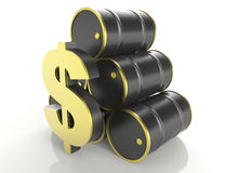 Oil Prices Chart Stock Image