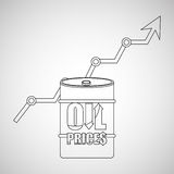 oil prices design Royalty Free Stock Photography