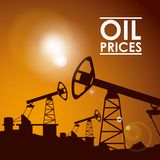 Oil prices Royalty Free Stock Photo