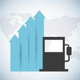 Oil prices Royalty Free Stock Images