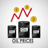 Oil prices design Royalty Free Stock Photos