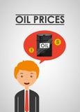 Oil prices design Royalty Free Stock Photo