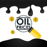Oil prices design Stock Images