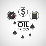 Oil prices design Royalty Free Stock Image