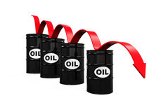 Oil Prices Dropping Illustration Royalty Free Stock Photos