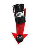 Oil Prices Dropping Illustration Stock Images