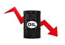 Oil Prices Dropping Illustration Royalty Free Stock Photography