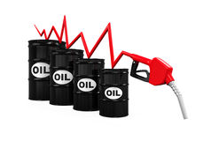 Oil Prices Dropping Illustration Royalty Free Stock Image