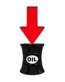 Oil Prices Dropping Illustration Stock Photos
