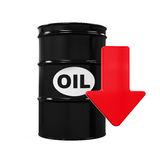 Oil Prices Dropping Illustration Royalty Free Stock Images